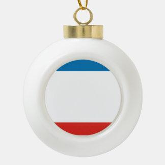 Crimea Flag Ceramic Ball Christmas Ornament