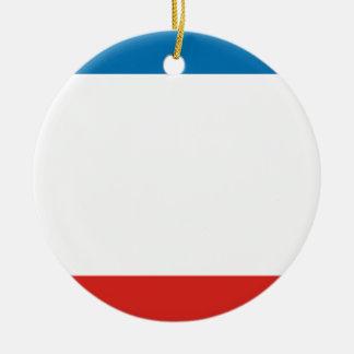 Crimea Flag Ceramic Ornament