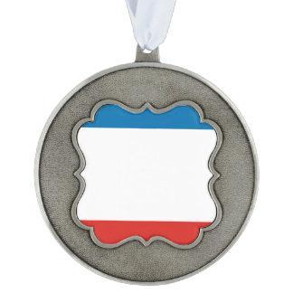 Crimea Flag Pewter Ornament