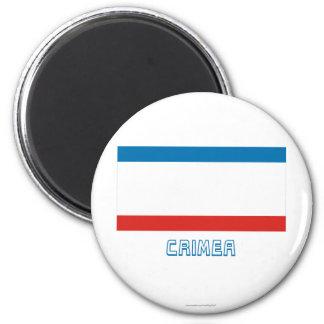 Crimea Flag with Name Refrigerator Magnet