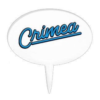 Crimea in cyan cake topper