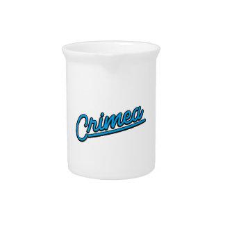 Crimea in cyan pitchers