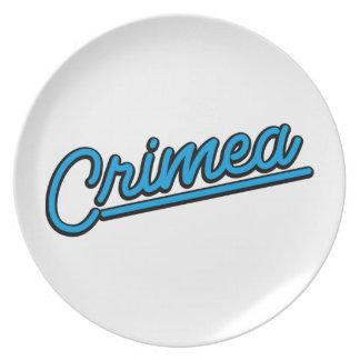 Crimea in cyan plates