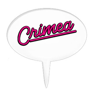 Crimea in magenta cake pick