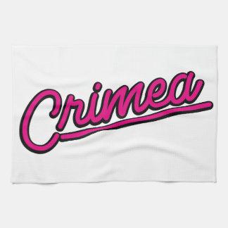 Crimea in magenta kitchen towels