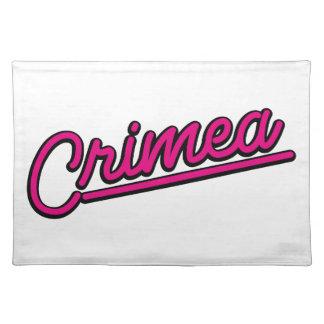 Crimea in magenta place mats