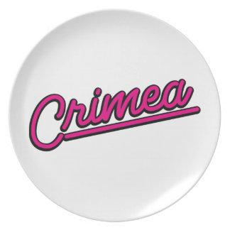 Crimea in magenta dinner plates