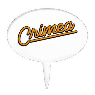 Crimea in orange cake toppers