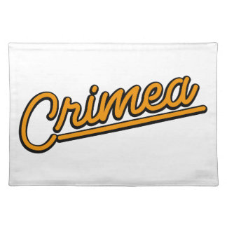 Crimea in orange placemats