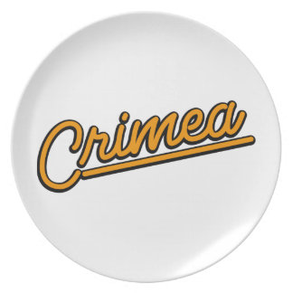 Crimea in orange dinner plates
