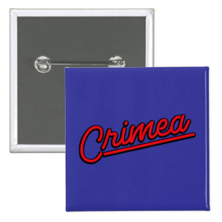 Crimea in red pinback buttons