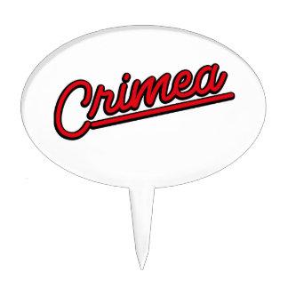Crimea in red cake topper