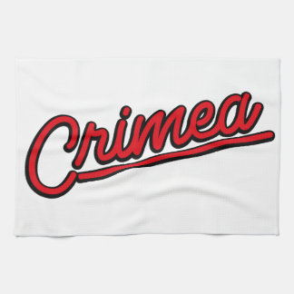 Crimea in red kitchen towels