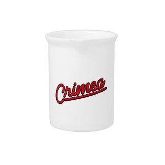 Crimea in red pitchers