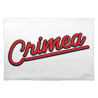 Crimea in red placemats
