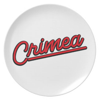 Crimea in red party plates
