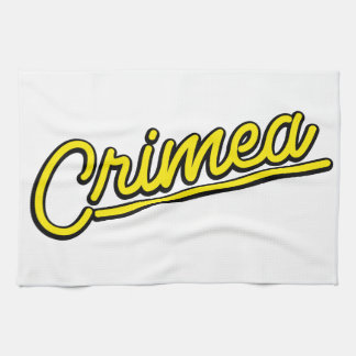 Crimea in yellow kitchen towel