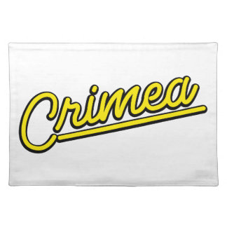 Crimea in yellow placemats