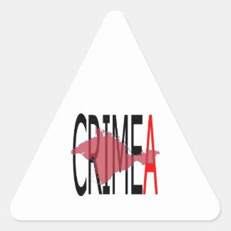 Crimea Pegatina Triangular