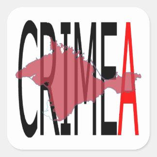 Crimea Pegatina Cuadrada