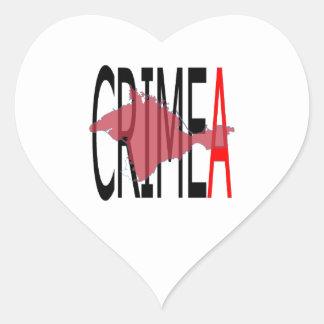Crimea Pegatina En Forma De Corazón