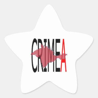 Crimea Pegatina En Forma De Estrella