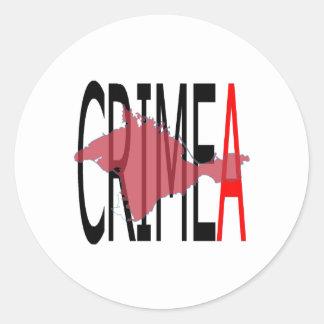 Crimea Pegatina Redonda