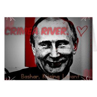 Crimea River Putin Image Card