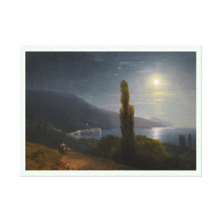 Crimean Coast in Moonlight Ivan Aivazovsky Canvas Print