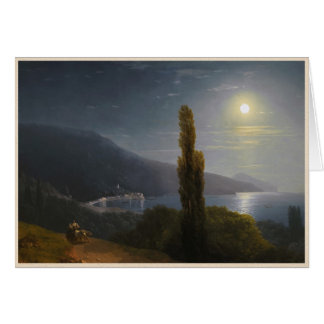 Crimean Coast in Moonlight Ivan Aivazovsky Card