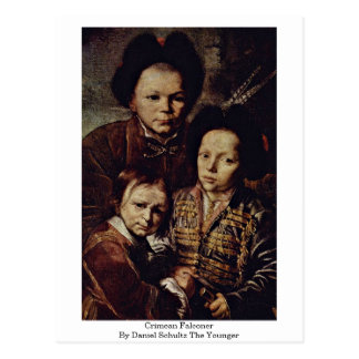 Crimean Falconer By Daniel Schultz The Younger Postcard