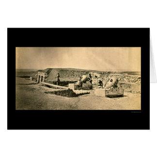 Crimean War Mortar Battery 1855 Card