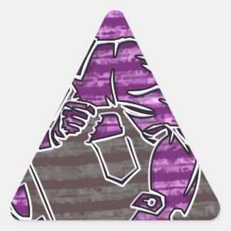 Crimen cibernético pegatina triangular