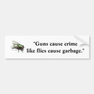 Crimen de la causa de los armas como la basura de  pegatina para auto