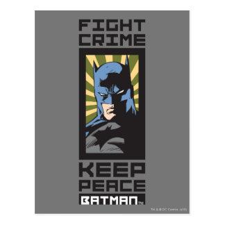 Crimen de la lucha - guarde la paz - Batman Postal