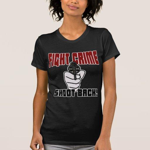 Crimen de la lucha - lanzamiento detrás camisetas
