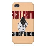 Crimen de la lucha - lanzamiento detrás iPhone 4 protector