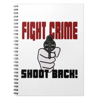 ¡Crimen de la lucha - lanzamiento detrás! Libro De Apuntes