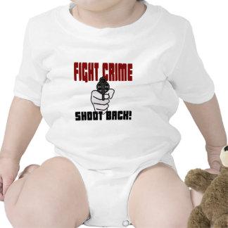 ¡Crimen de la lucha - lanzamiento detrás! Traje De Bebé