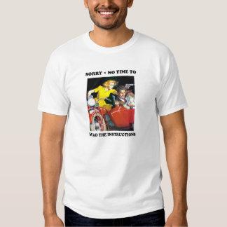 CRIMEN de la MOTOCICLETA de la camiseta del diseño Playeras