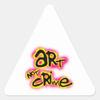 Crimen del arte no pegatina triangular