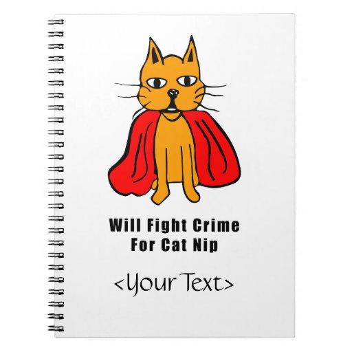 Crimen estupendo de la pelea de gatos para el Catn Libretas Espirales