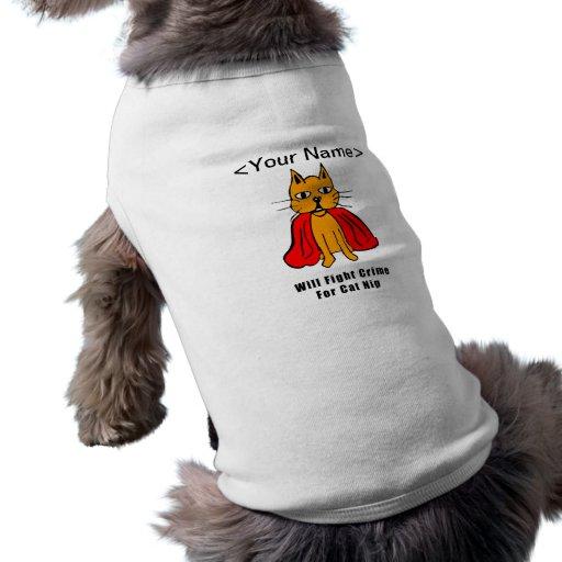 Crimen estupendo de la pelea de gatos para el Catn Playera Sin Mangas Para Perro