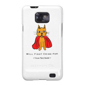 Crimen estupendo de la pelea de gatos para <Your Galaxy S2 Fundas