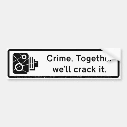 Crimen Etiqueta De Parachoque