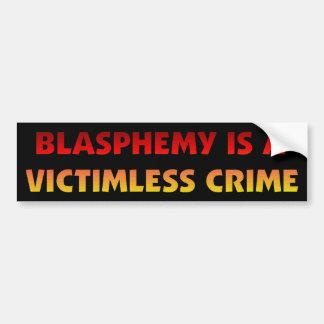 Crimen sin víctimas de la blasfemia pegatina para auto