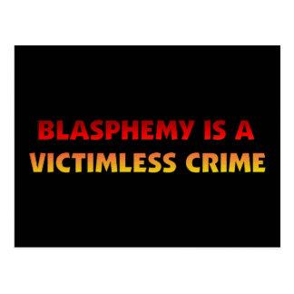 Crimen sin víctimas de la blasfemia tarjeta postal