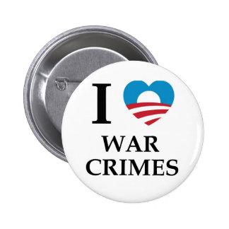 Crímenes de guerra de Obama Pin Redondo De 2 Pulgadas
