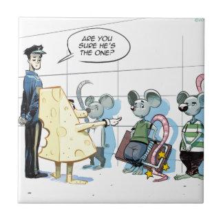 Crímenes del ratón de Rick Londres divertido Azulejo Cuadrado Pequeño