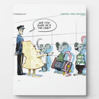 Crímenes del ratón de Rick Londres divertido Placas Con Fotos